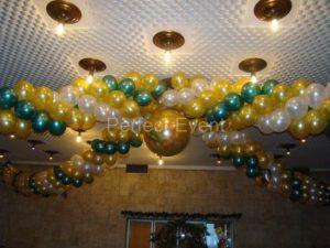 dekoracja weselna balonowa