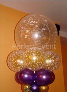 kolumna z balonów katowice