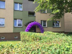 brama weselna balony