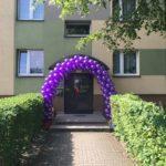 brama z balonów na wesele