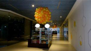 Koła z balonów - balony galeria handlowa