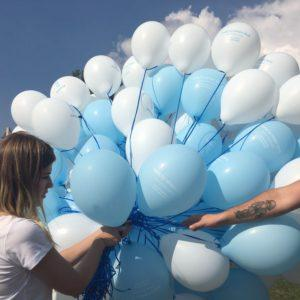 balony na hel - rozdawanie balonów