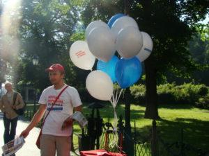 pompowanie i rozdawanie balonów kraków