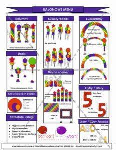 co można zrobić z balonów balonowe menu balonowedekoracje.pl