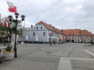 balony z helem na dzień flagi w Mikołowie