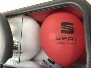 balony z logo Seat Centrum Wrocław