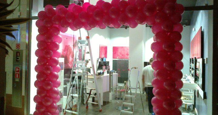 brama balonowa dla T-Mobile w Gliwicach, dekoracje balonowe Gliwice