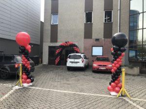brama balonowa i kolumny balonowe dekoracja balonowa Mikołow