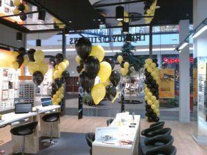 dekoracja balonowa na otwarcie sklepu w Łodzi