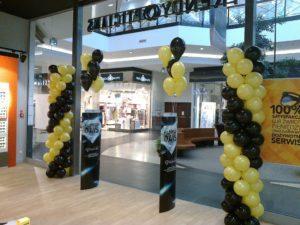 dekoracja balonowa na otwarcie sklepu w Katowicach