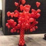 drzewo miłości z balonów dla NOSPR Katowice