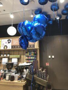 foliowe balony z helem jako dekoracja lokalu Bytom Agora balonowedekoracje.pl