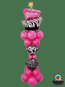 bukiet balonowy elegancki na urodziny kobiety