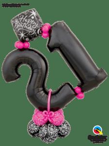 bukiet balonowy na 18 urodziny