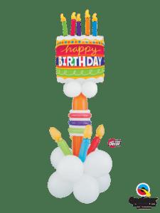 bukiet balonowy na urodziny z tortem