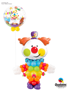 clown z balonów - prezent na urodziny - bukiet balonowy clown