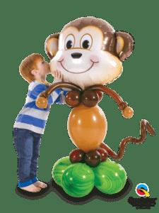 małpka z balonów - figurka małpy - prezent z balonów