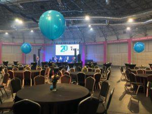 balon z helem - stroik balonowy - kraków Tauron Arena