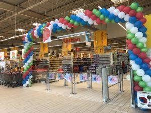brama balonowa Auchan Katowice
