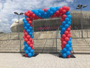 brama balonowa Kraków Tauron Arena z okazji 25 lecia Motorola