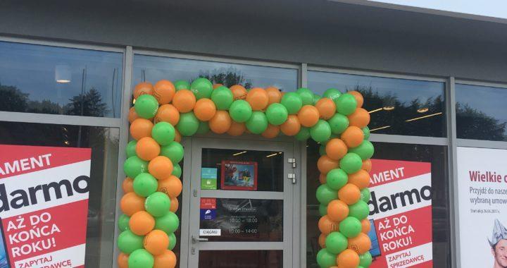 brama balonowa w krakowie na otwarcie salonu PLUS GSM