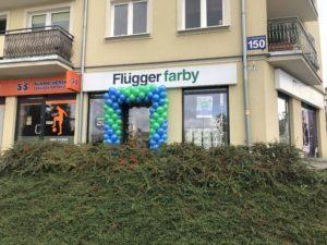 brama z balonów Kielce w salonie Flugger
