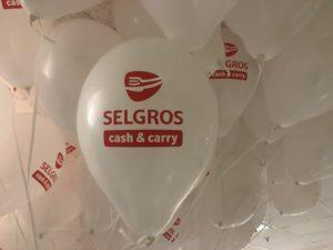 balony z helem z nadrukie Selgros