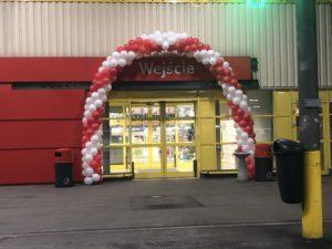 dekoracja balonowa, brama z balonów Bytom, balony z helem dla dzieci w selgros bytom