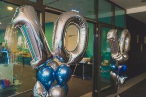 balony z helem na jubileusz fimy