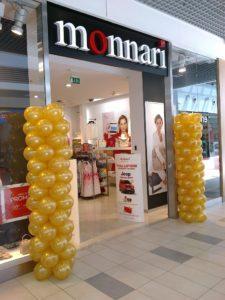 kolumny-z-balonów-dekoracja-wejscia-do-sklepu-kedzierzyn-kozle