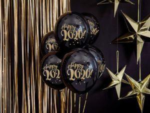 Balon-lateksowy-Happy-2020-czarny