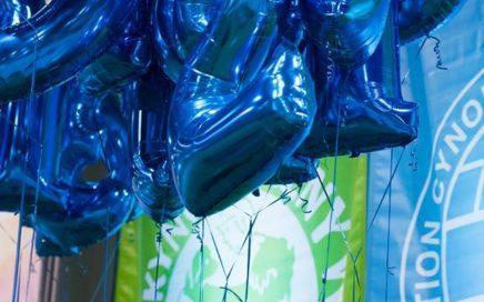 balony-cyfty-niebieskie-napełnione-helem-jako-dekoracja-wybiegu-dla-psów-rasowych-w-Expo-Silesia-w-Sosnowcu.