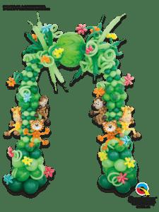 dekoracja-balonowa-w-temacie-dzungla