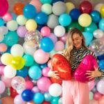 ściana z balonów