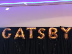 GATSBY napis z balonów