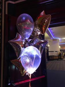 balon z ledem napeniony helem