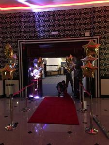 balony witały przybyłych gości już od wejścia na teren obiektu