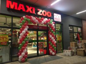brama balonowa na otwarcie Maxi Zoo w Sosnowcu