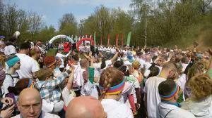 brama z balonów event w plenerze