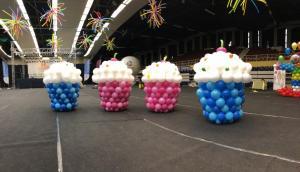 mufinki z balonów na dekoracje imprezy miejskiej w Jaworznie