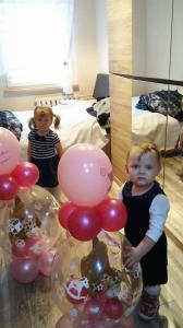 prezent w balonie