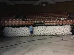 siatka z balonami katowice - grad balonów katowice