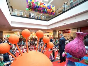 siatka z balonami na urodziny centrum handlowego Echo Kielce