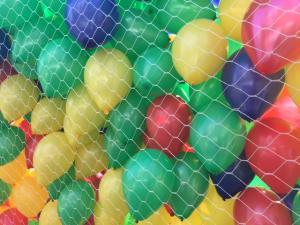 wypuszczenie balonów z siatki podczas zawodów biegowych w dąbrowie górniczej