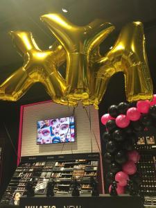 złote balony litery foliowe z helem Katowice