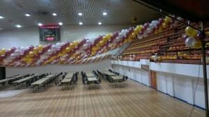 dekoracja balonowa imprezy górniczej