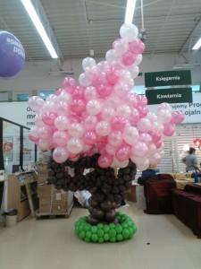 drzewo z balonów - balonowe drzewo