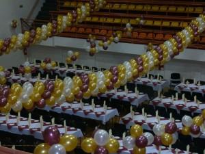 girlandy z balonów na barbórkę
